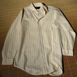 Ralph Lauren Yellow Stripped Shirt. 15.5-33
